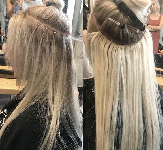 Beaded Weft Hair Extensions Denver Boulder/Denver